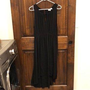 Loft Black Hi Low Dress